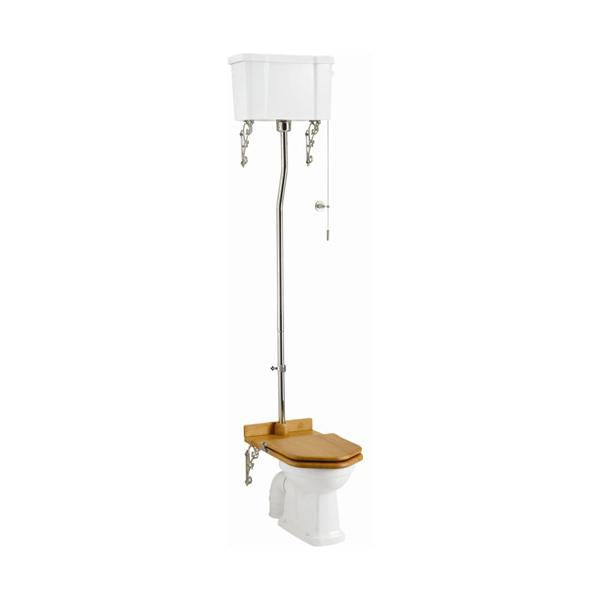 Burlington Traditional Traditional High Level Pan with White Ceramic Cistern and Flush Pipe Kit - Unbeatable Bathrooms