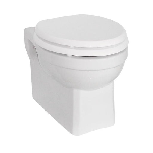 Burlington Traditional White Wall Hung Pan - Unbeatable Bathrooms