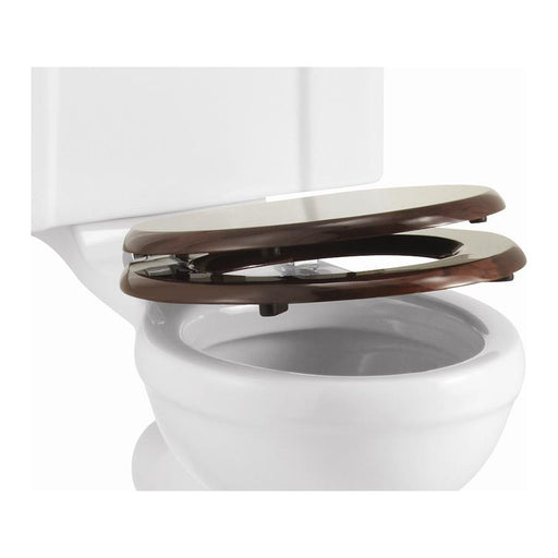 Burlington Wooden Soft-Close Toilet Seat - Unbeatable Bathrooms