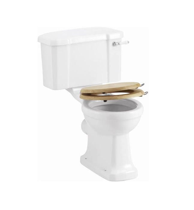 Burlington Wooden Soft-Close Toilet Seat with Handle - S16+A51 CHR