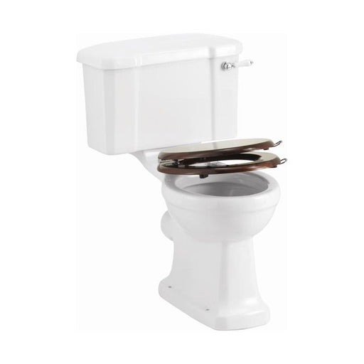 Burlington Wooden Soft-Close Toilet Seat with Handle - S17+A51 CHR