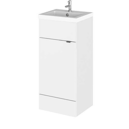Hudson Reed Fusion Floor Standing Full Depth Vanity Unit & Polymarble Basin - Unbeatable Bathrooms