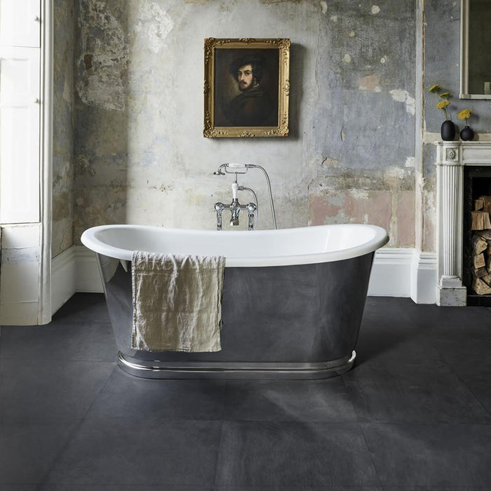 Clearwater Balthazar Clear Stone White Bath - Unbeatable Bathrooms