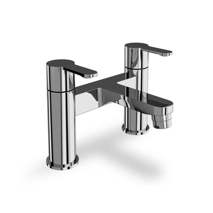 Clearwater Crystal Chrome plated Bath Filler Deck-Mounted - Unbeatable Bathrooms