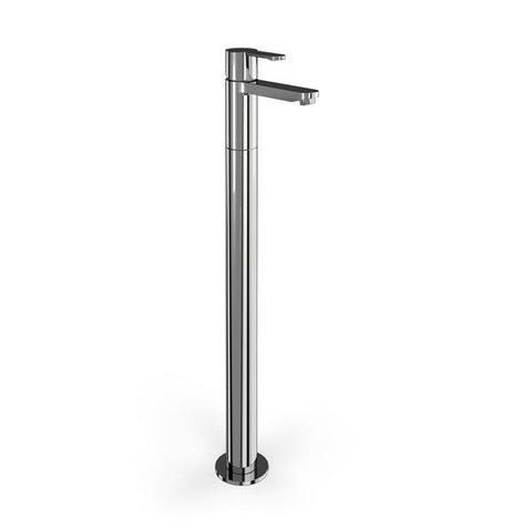 Clearwater Crystal Single-Lever Bath Filler on Stand Pipe Floor Standing - Unbeatable Bathrooms