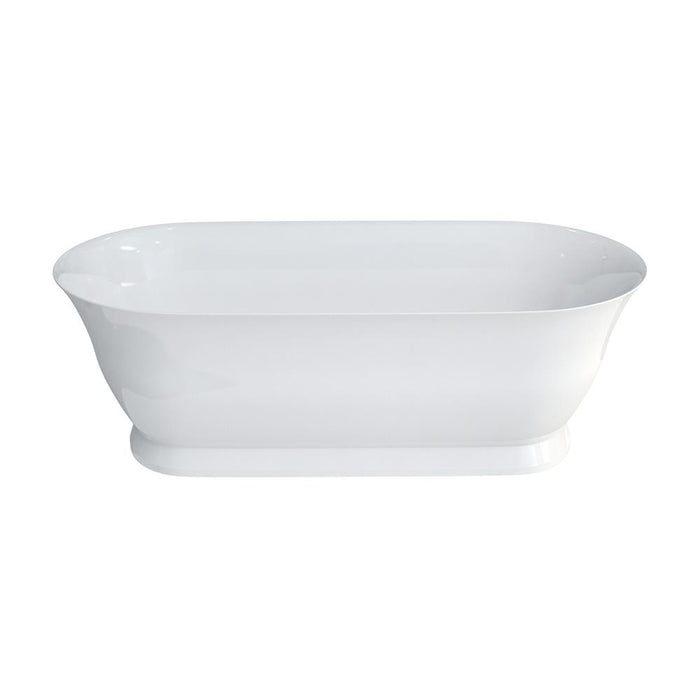 Clearwater Florenza Clear Stone White Bath - Unbeatable Bathrooms