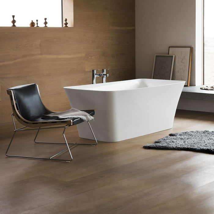 Clearwater Palermo Petite Clear Stone White Bath - Unbeatable Bathrooms