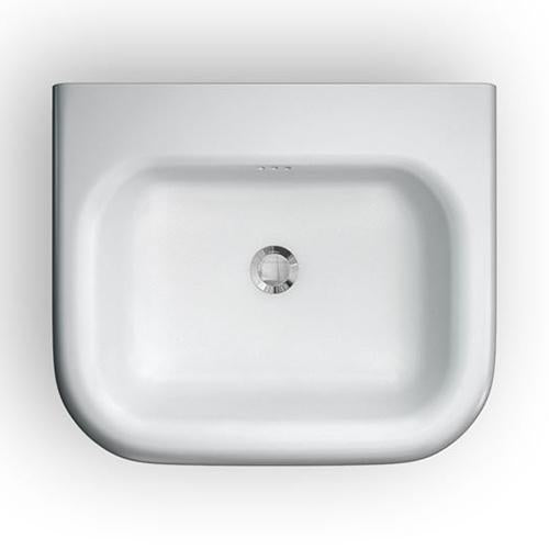 Clearwater Small Roll Top White Basin with Stainless Steel Stand - Unbeatable Bathrooms