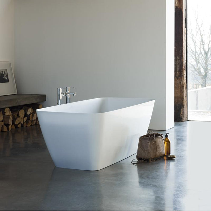 Clearwater Vicenza Grande Clear Stone White Bath - Unbeatable Bathrooms