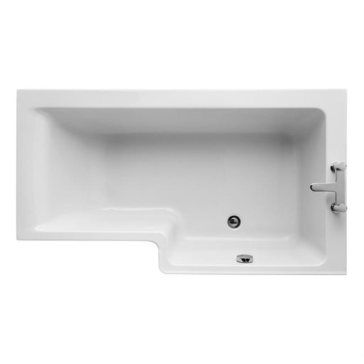 Ideal Standard Concept 150cm x 70/85cm Idealform Square shower bath - Unbeatable Bathrooms
