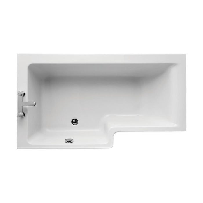 Ideal Standard Concept 150cm x 85cm Idealform Plus+ Square shower bath - Unbeatable Bathrooms