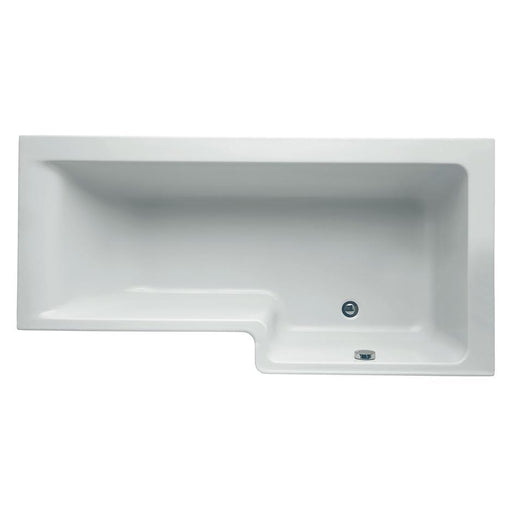 Ideal Standard Concept 170cm x 70/85cm Idealform Square shower bath, right hand no tapholes - Unbeatable Bathrooms
