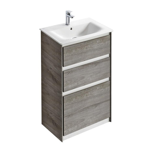 Ideal Standard Concept Air 60cm floor standing vanity unit with 2 drawers - Unbeatable Bathrooms