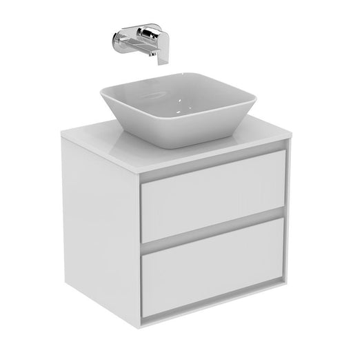 Ideal Standard Concept Air 60cm wall hung vanity unit with 2 drawer - Unbeatable Bathrooms