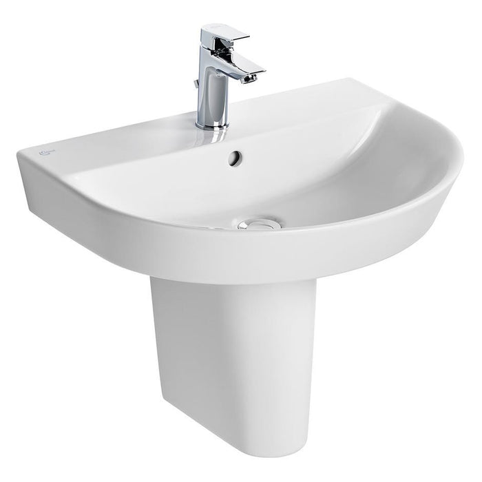 Ideal Standard Concept Air Arc Washbasin 1 Taphole with Overflow - Unbeatable Bathrooms