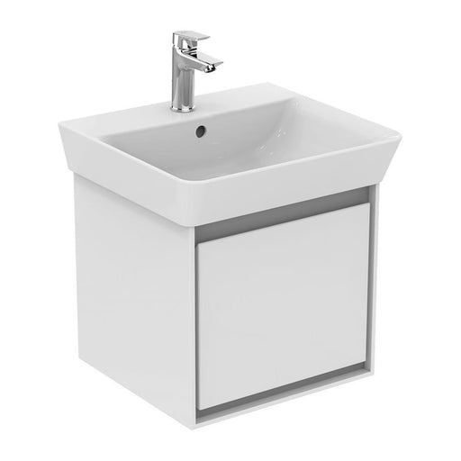 Ideal Standard Concept Air wall hung cube basin unit with 1 drawer - Unbeatable Bathrooms