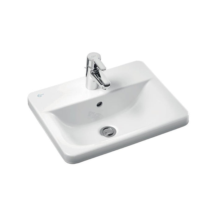 Ideal Standard Concept Cube 58cm Countertop Washbasin 1 Taphole and Overflow - Unbeatable Bathrooms