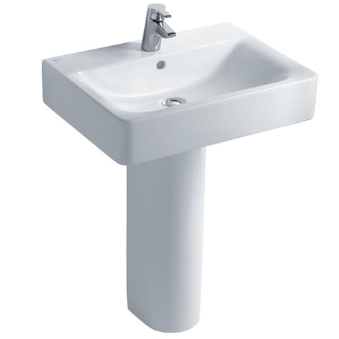 Ideal Standard Concept Cube 60cm washbasin, 1 taphole with overflow - Unbeatable Bathrooms