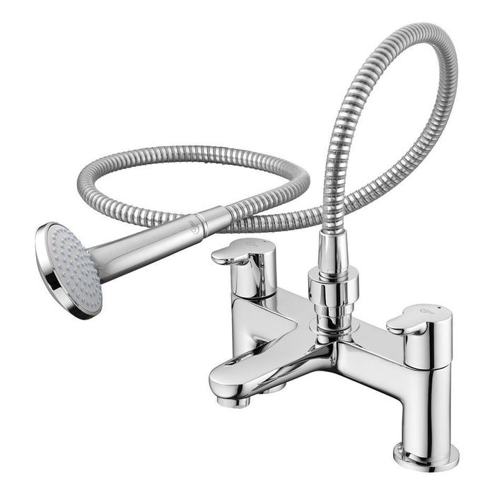 Ideal Standard Concept dual control two hole bath shower mixer with shower set - Unbeatable Bathrooms