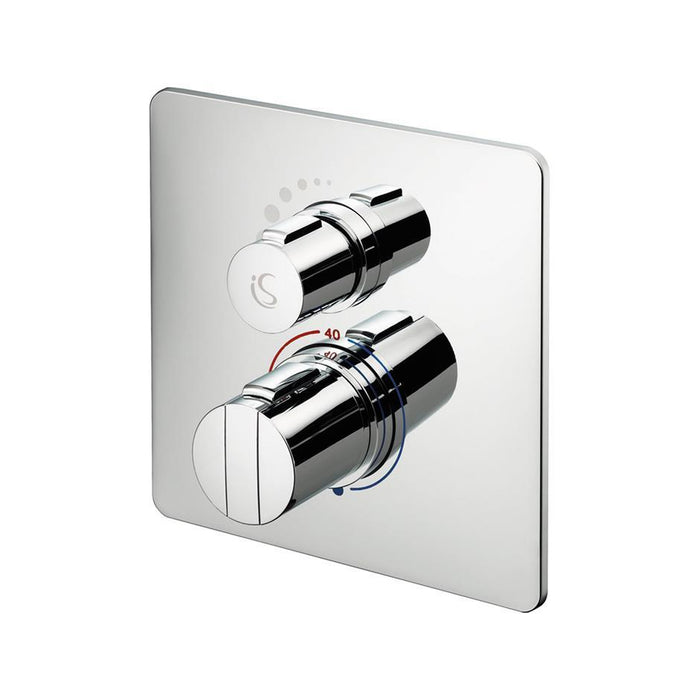 Ideal Standard Concept Easybox Slim built-in thermostatic shower mixer with faceplate - Unbeatable Bathrooms