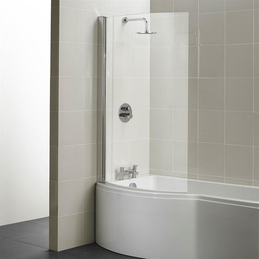 Ideal Standard Concept shower bath curved screen - clear glass - Unbeatable Bathrooms