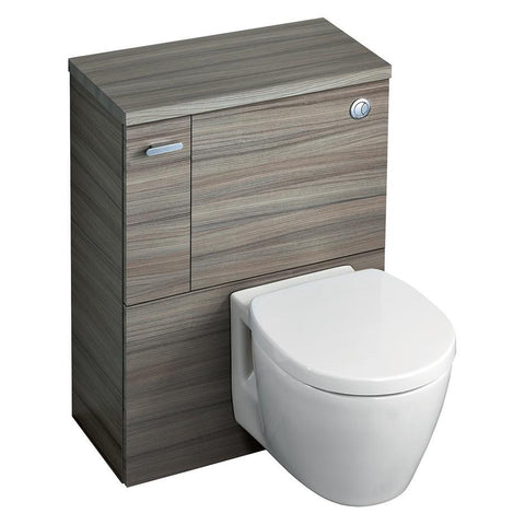 Ideal Standard Concept Space 600 WC unit with adjustable cistern for 6/4 or 4/2.6 litre flush, left hand storage cupboard - Unbeatable Bathrooms