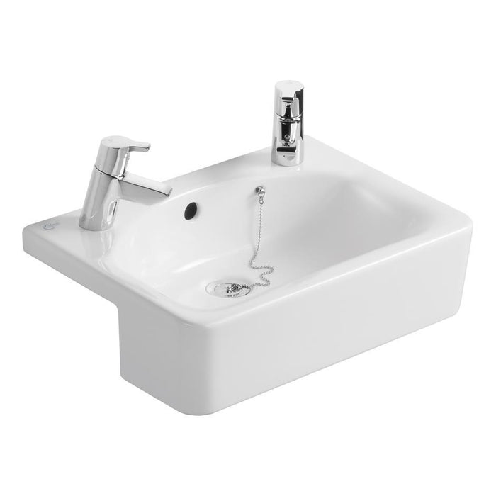 Ideal Standard Concept Space Basin Suite with 50cm Cube Short Projection Semi Countertop Washbasin - Unbeatable Bathrooms