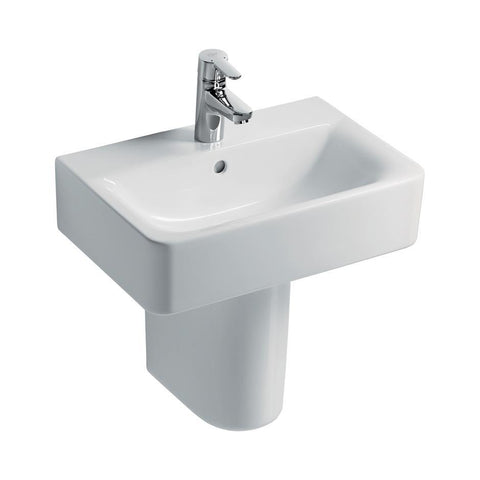Ideal Standard Concept Space Basin Suite with 55cm Cube Short Projection Pedestal Washbasin - Unbeatable Bathrooms