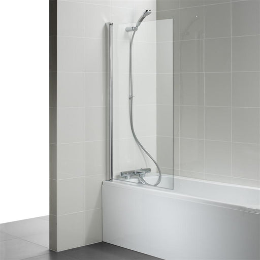 Ideal Standard Connect Angle Bathscreen - clear glass - Unbeatable Bathrooms