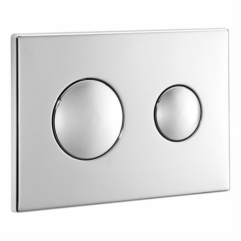 Ideal Standard Contemporary flushplate with Ideal Standard logo - chrome plated - Unbeatable Bathrooms