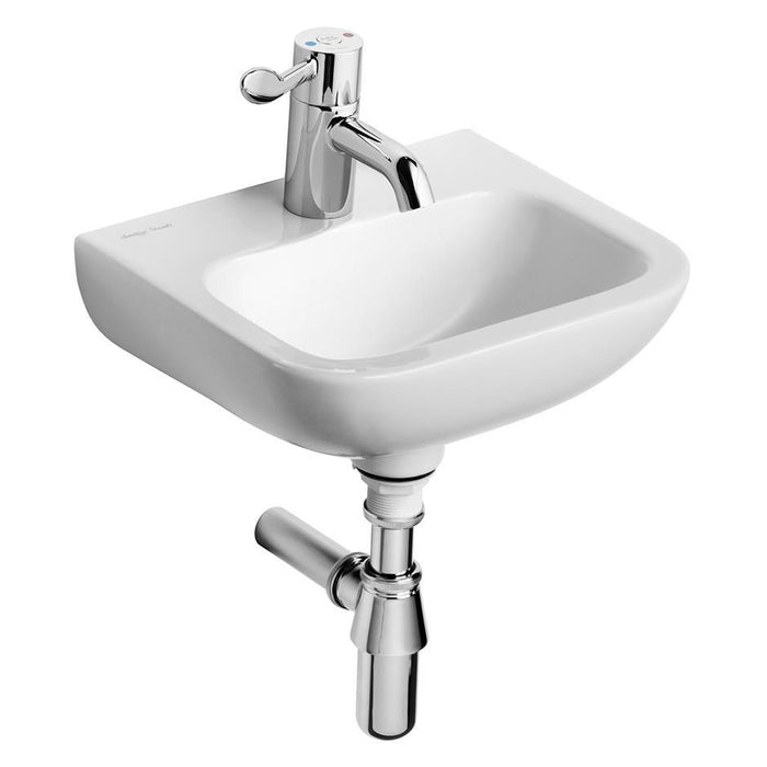 Armitage Shanks Contour 21 37cm Handrinse Washbasin, 1 Taphole, No Overflow, No Chainstay Hole, Bottom Outlet - Unbeatable Bathrooms