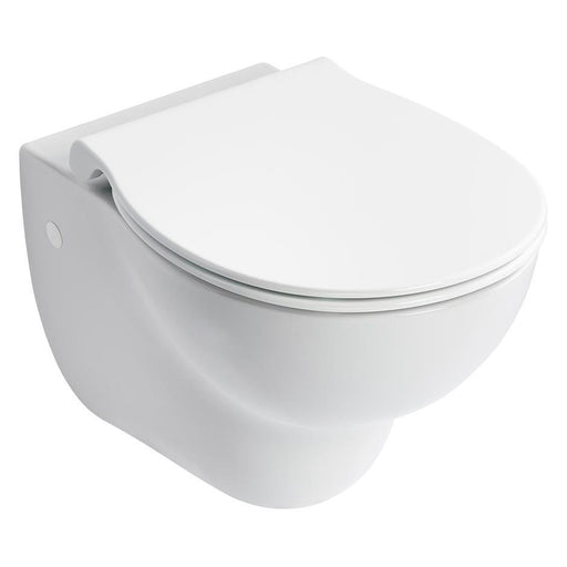 Armitage Shanks Contour 21+ Wall Mounted Rimless Wc Pan with Horizontal Outlet and Anti-Microbial Glaze - Unbeatable Bathrooms