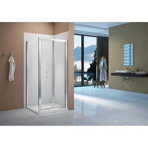 Bathrooms To Love Merlyn Vivid Boost Bi-Fold Door Shower Enclosure - Unbeatable Bathrooms
