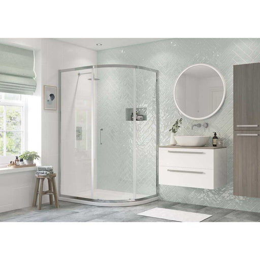 Bathrooms To Love Reflexion Flex 6mm Frammed 1 Door Offset Quadrant Shower Enclosure - Unbeatable Bathrooms