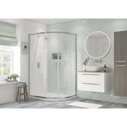 Bathrooms To Love Reflexion Flex 6mm Framed Offset Quadrant 2 Door - Unbeatable Bathrooms