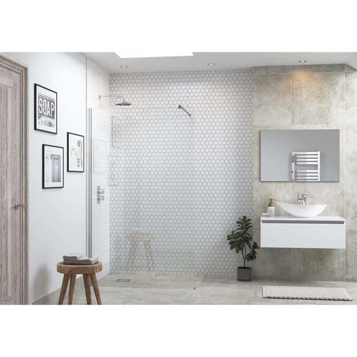 Bathrooms To Love Reflexion Flex 500mm Wetroom Panel & Arm - Unbeatable Bathrooms