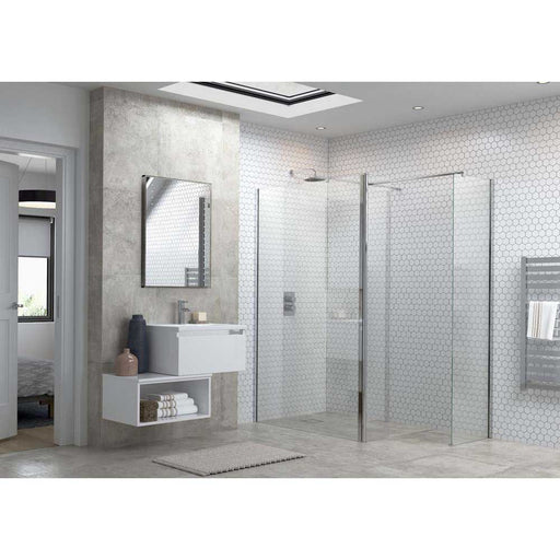 Bathrooms To Love Reflexion Flex 800mm Wetroom Panel & 300mm Rotatable Panel - Unbeatable Bathrooms