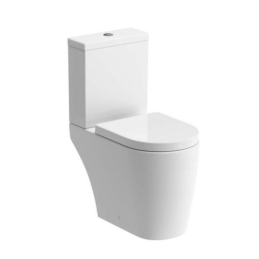 Bathrooms To Love Cilantro Close Coupled Rimless Open Back WC Unit - Unbeatable Bathrooms