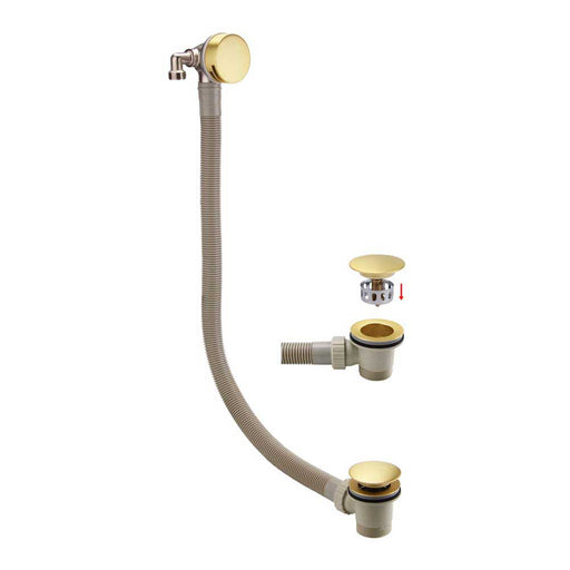 Bathrooms To Love Brushed Brass Bath Fill Waste with Wast Overflow - Unbeatable Bathrooms