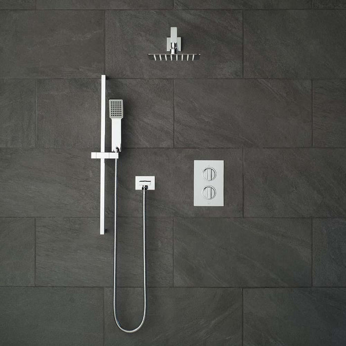 Vado Shower Valve Package of Notion Two Outlet Thermostatic Shower Package with Slide Rail Shower Kit - Unbeatable Bathrooms