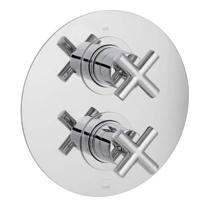 Vado Elements Water Two Outlet Two Handle Wall Mounted Thermostatic Shower Valve - Unbeatable Bathrooms