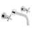 Vado Elements Water Three Hole Wall Mounted Bath Filler with 200mm Spout - Unbeatable Bathrooms