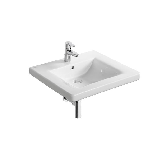 Ideal Standard Freedom Doc M Pack inc 60cm Accessible basin and 75cm projection wall hung WC bowl - Chrome rails - Unbeatable Bathrooms