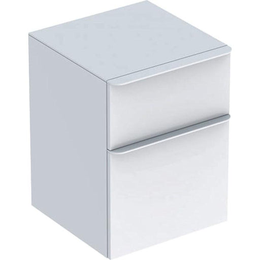 Geberit Smyle Square Low Cabinet with Two Drawers - Unbeatable Bathrooms