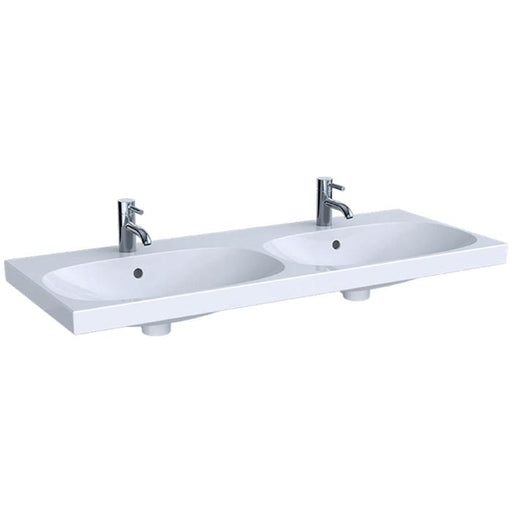 Geberit Acanto 120cm Double Washbasin - Unbeatable Bathrooms