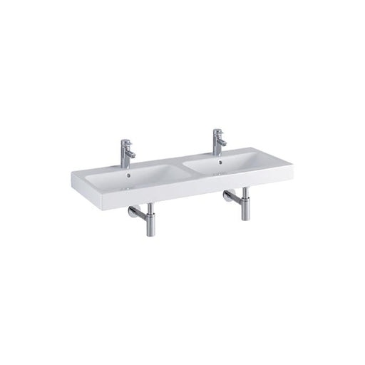 Geberit Icon 120cm Two Tap Hole Double Washbasin - Unbeatable Bathrooms