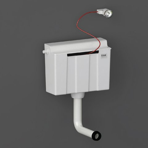 Rak Concealed Cistern For Furniture Complete with Cable Operated Push Button - Side Inlet - Unbeatable Bathrooms