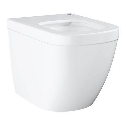 Grohe Euro Ceramic Floor Standing Back To Wall Alpine White WC - Unbeatable Bathrooms