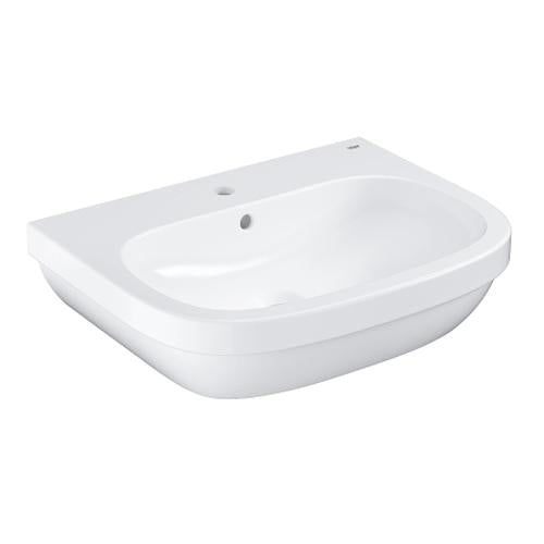Grohe Euro Ceramic Wall-Mounted Alpine White Wash Basin - Unbeatable Bathrooms