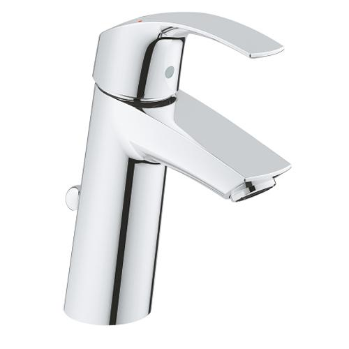 Grohe Eurosmart 1/2 Inch Medium Size Basin Mixer with Pop Up Waste - Unbeatable Bathrooms